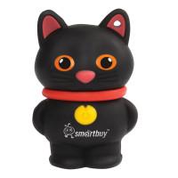 """SMARTBUY SB16GBCatK Флеш-диск сувенирный 16 GB, SMARTBUY Wild """"Котенок"""", USB 2.0, черный, SB16GBCatK"""
