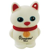 "SMARTBUY SB16GBCatW Флеш-диск сувенирный 16 GB, SMARTBUY Wild ""Котенок"", USB 2.0, белый, SB16GBCatW"