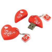 "SMARTBUY SB16GBHeart Флеш-диск сувенирный 16 GB, SMARTBUY Wild ""Сердце"", USB 2.0, SB16GBHeart"