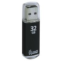 SMARTBUY SB32GBVC-K Флеш-диск 32 GB, SMARTBUY V-Cut, USB 2.0, металлический корпус, черный, SB32GBVC-K