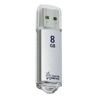SMARTBUY SB8GBVC-S Флеш-диск 8 GB, SMARTBUY V-Cut, USB 2.0, металлический корпус, серебристый, SB8GBVC-S