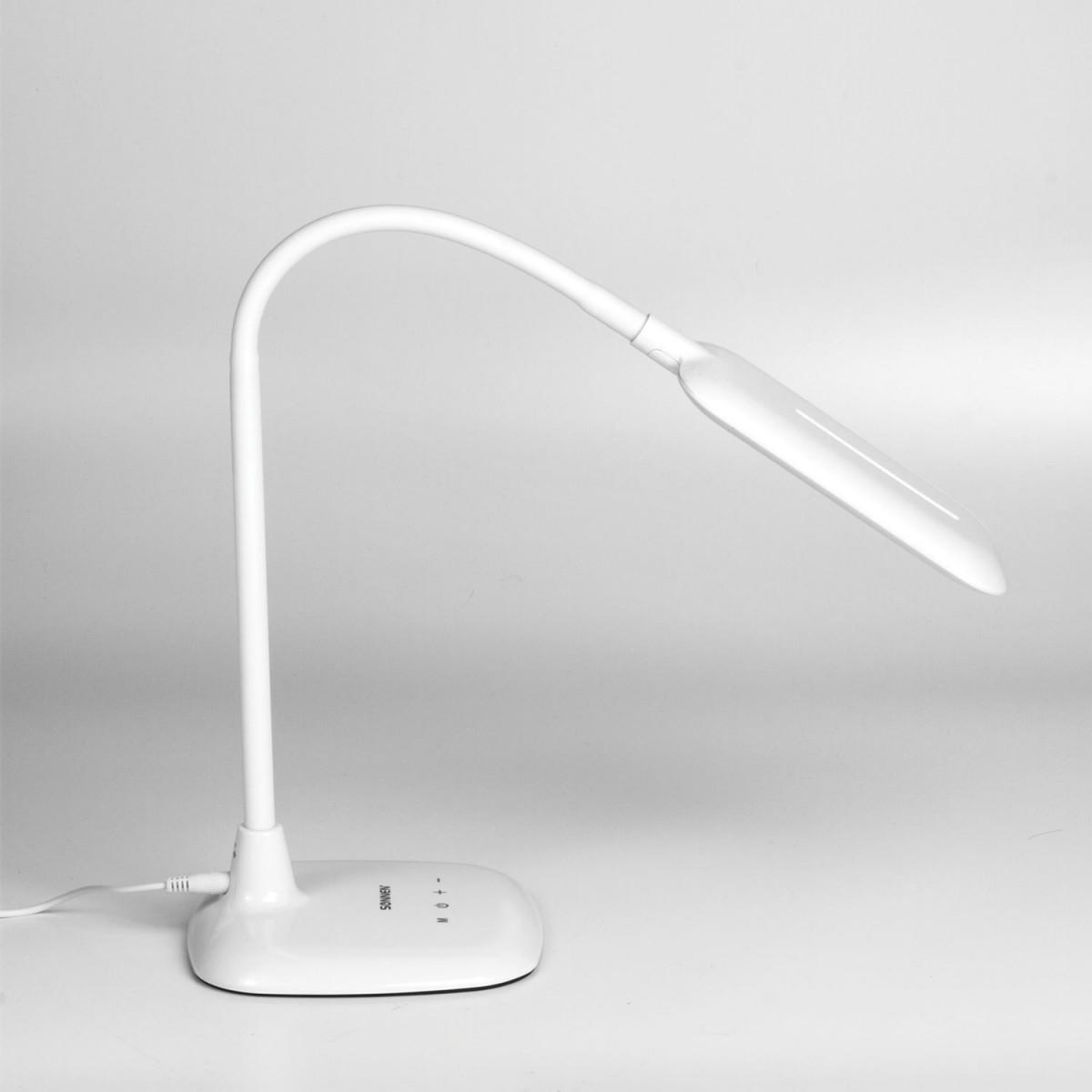 Светильник настольный SONNEN BR-819A, на подставке, светодиодный, 8 Вт, белый, 236666 (арт. 236666)