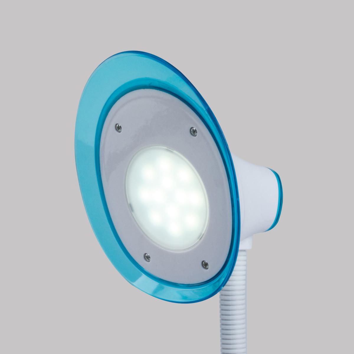 Светильник настольный SONNEN OU-608, на подставке, светодиодный, 5 Вт, белый/синий, 236669 (арт. 236669)