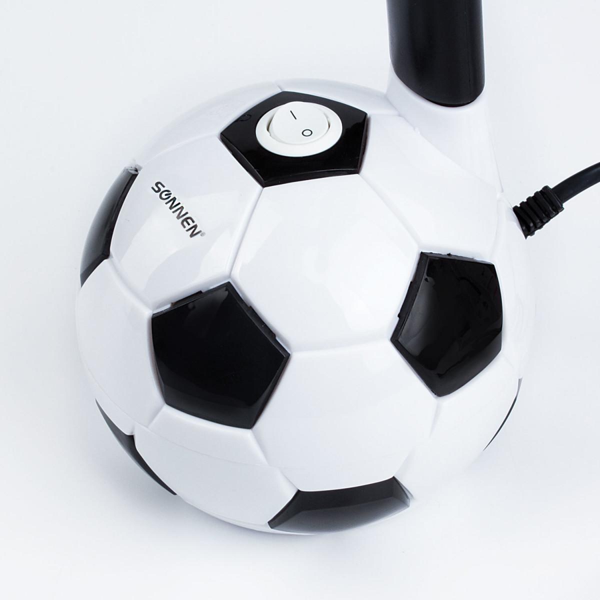 """Светильник настольный SONNEN OU-503, на подставке, цоколь Е27, """"Мяч"""", белый, 236675 (арт. 236675)"""