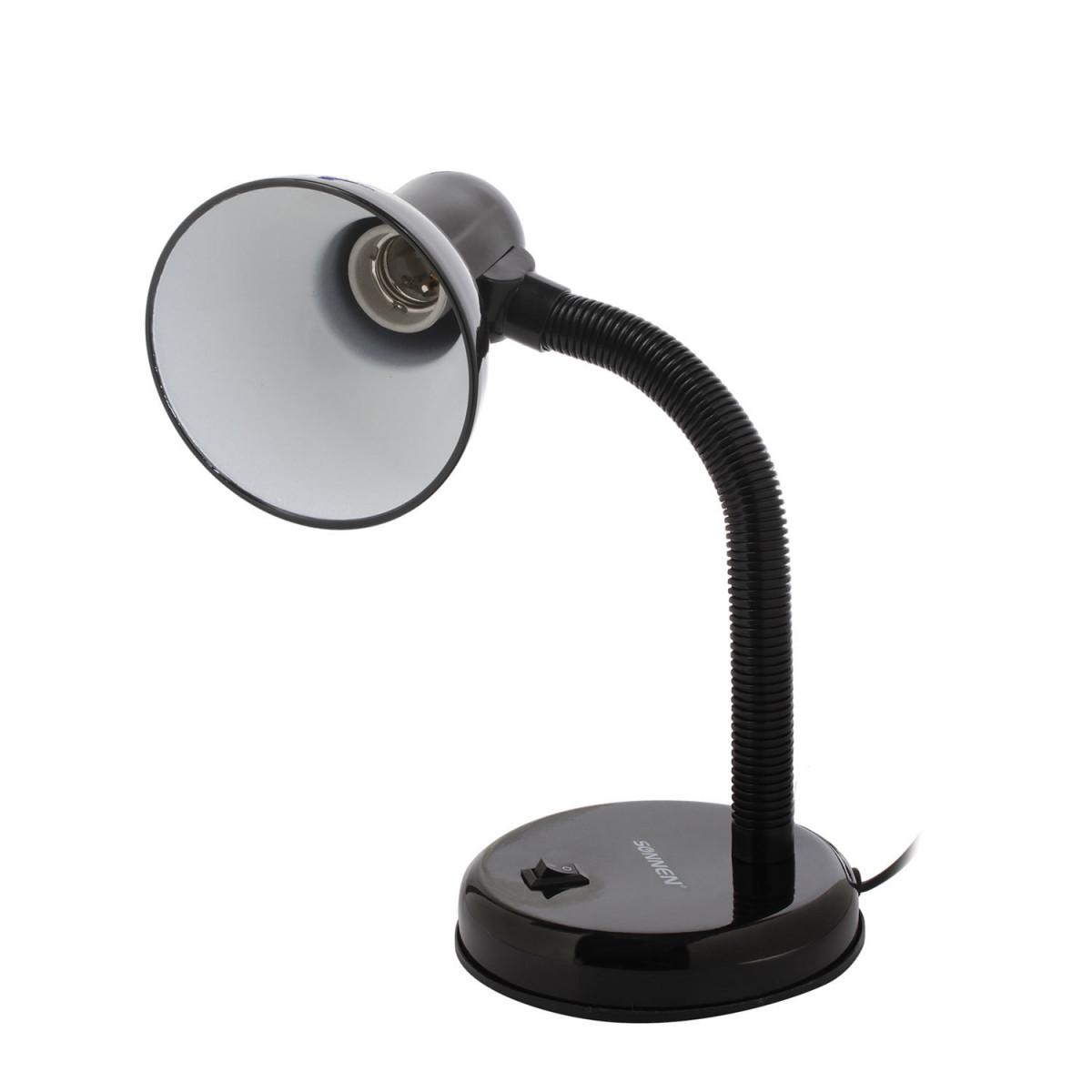Светильник настольный SONNEN OU-203, на подставке, цоколь Е27, черный, 236676 (арт. 236676)