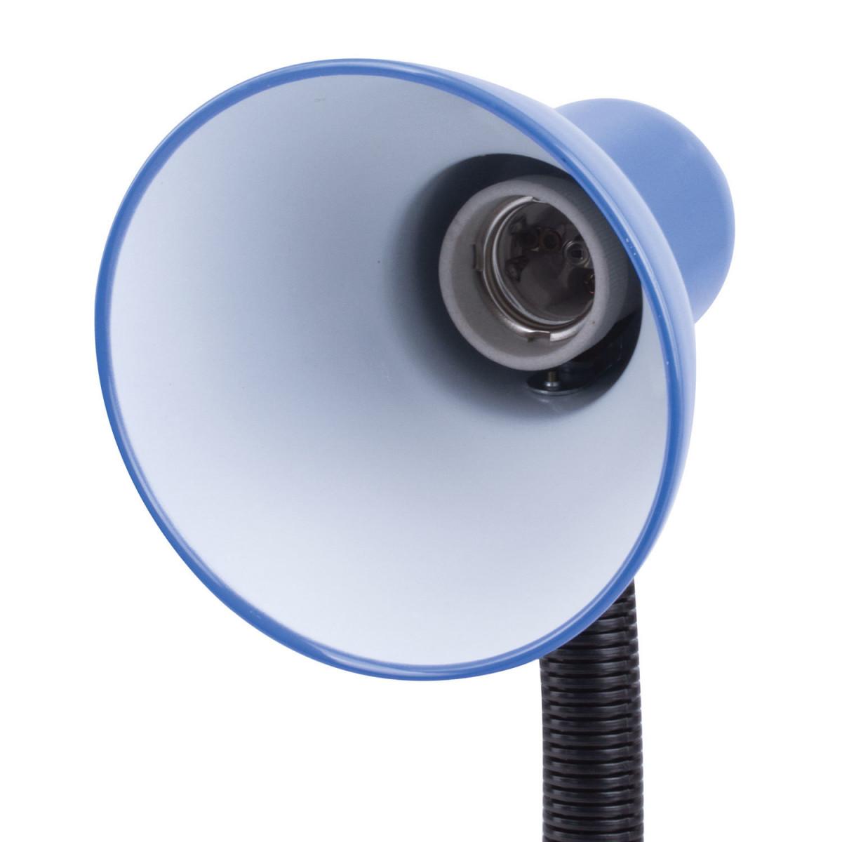 Светильник настольный SONNEN OU-203, на подставке, цоколь Е27, синий, 236677 (арт. 236677)