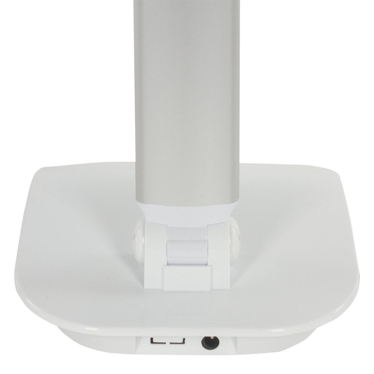 Светильник настольный SONNEN PH-3607, на подставке, светодиодный, 9 Вт, алюминий, серебристый, 236686 (арт. 236686)