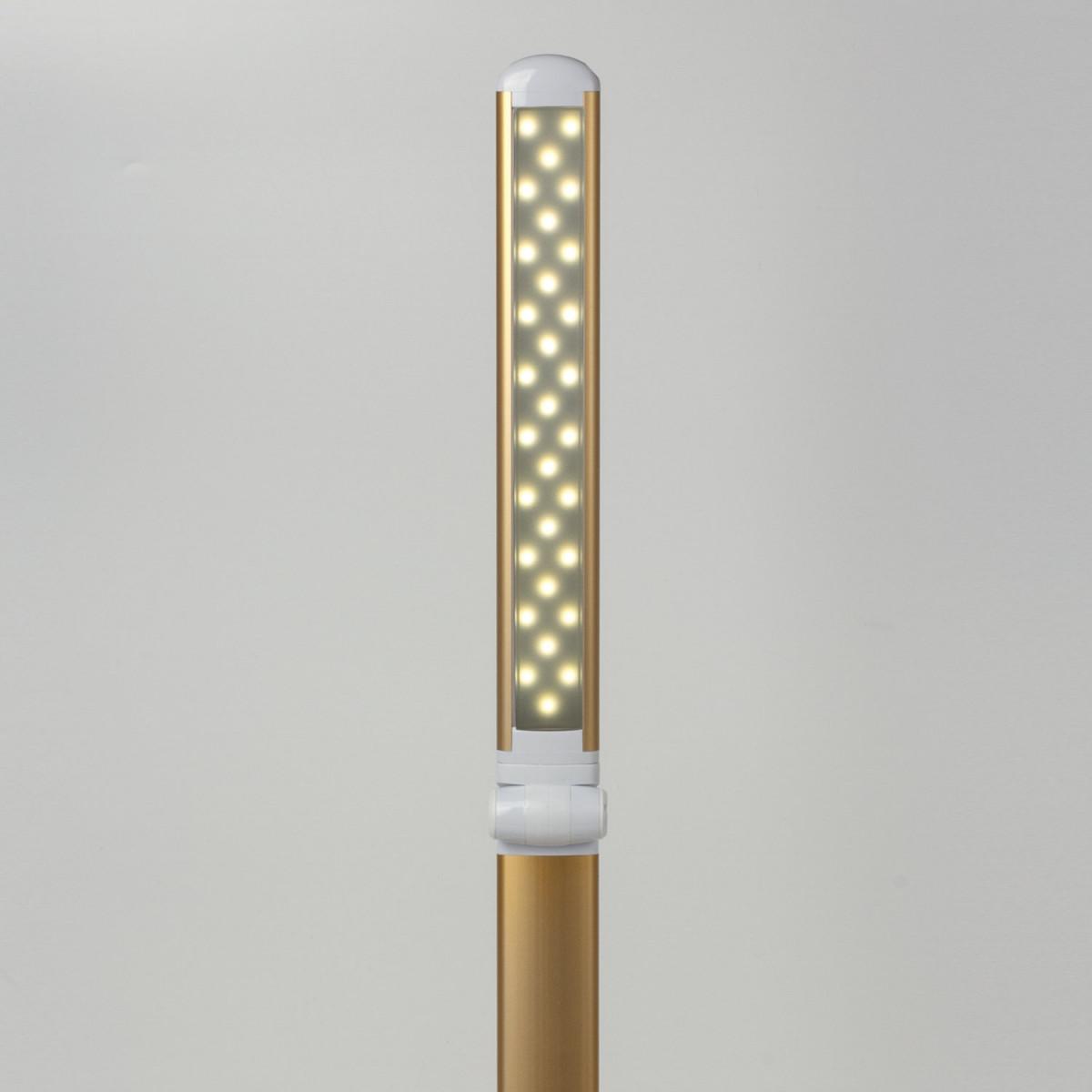 Светильник настольный SONNEN PH-3609, на подставке, светодиодный, 9 Вт, алюминий, золотистый, 236687 (арт. 236687)