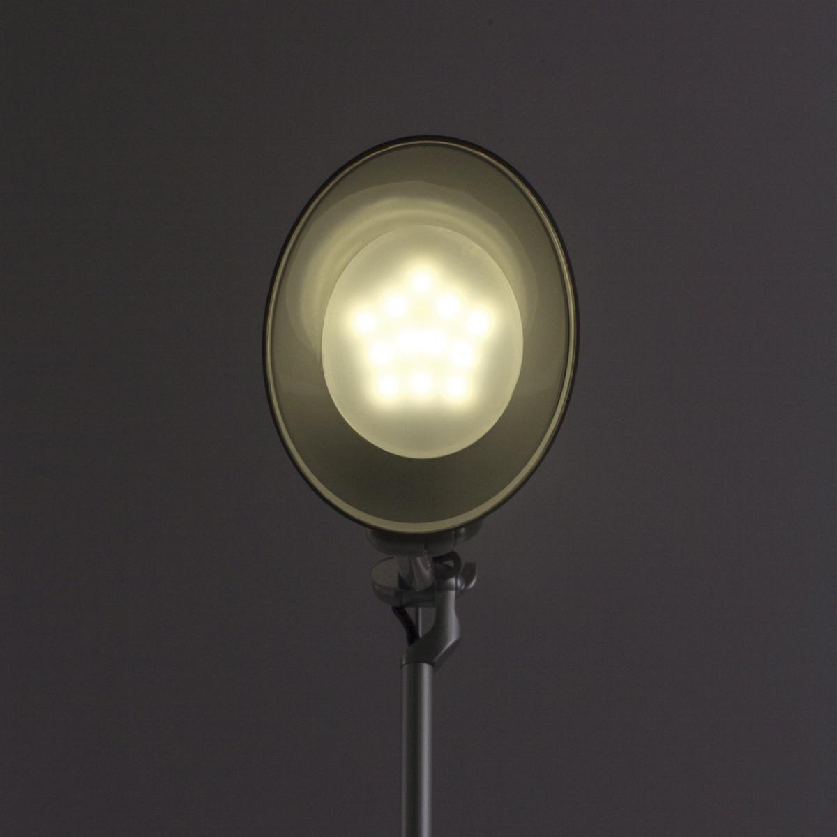 Светильник настольный SONNEN PH-104, на подставке, светодиодный, 8 Вт, серебристый, 236691 (арт. 236691)