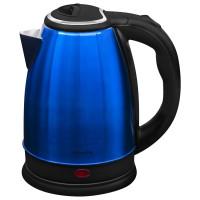 SONNEN 452927 Чайник SONNEN KT-118B, 1,8 л, 1500 Вт, закрытый нагревательный элемент, нержавеющая сталь, синий, 452927