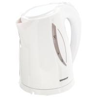 SONNEN 453415 Чайник SONNEN KT-1758, 1,7 л, 2200 Вт, закрытый нагревательный элемент, пластик, белый, 453415