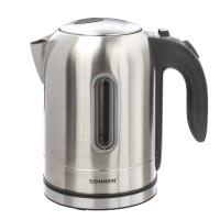 SONNEN 453419 Чайник SONNEN KT-1755, 1,7 л, 2200 Вт, закрытый нагревательный элемент, нержавеющая сталь, 453419