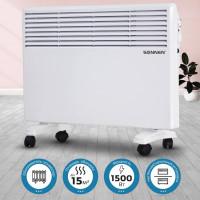SONNEN 453495 Обогреватель-конвектор SONNEN X-1500, 1500 Вт, напольная/настенная установка, белый, 453495