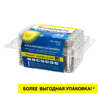 SONNEN 455095 Батарейки КОМПЛЕКТ 24 шт., SONNEN Alkaline, АА(LR6, 15А), алкалиновые, пальчиковые, короб, 455095