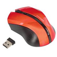 SONNEN 512643 Мышь беспроводная SONNEN WM-250R, USB, 1600 dpi, 3 кнопки + 1 колесо-кнопка, оптическая, красная, 512643