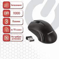 SONNEN 512647 Мышь беспроводная SONNEN M-661Bk, USB, 1000 dpi, 2 кнопки + 1 колесо-кнопка, оптическая, черная, 512647