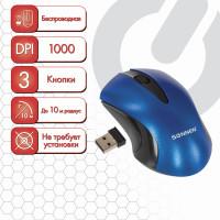 SONNEN 512648 Мышь беспроводная SONNEN M-661Bl, USB, 1000 dpi, 2 кнопки + 1 колесо-кнопка, оптическая, синяя, 512648