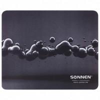 """SONNEN 513290 Коврик для мыши SONNEN """"DROPS"""", резина + ткань, 220х180х3 мм, 513290"""