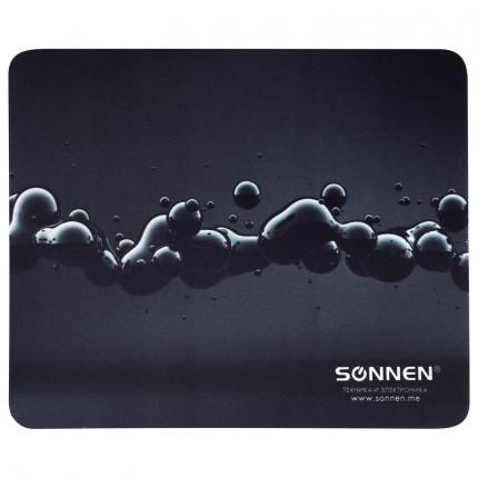 """Коврик для мыши SONNEN """"DROPS"""", резина + ткань, 220х180х3 мм, 513290 (арт. 513290)"""