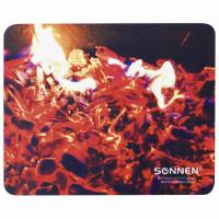 "SONNEN 513292 Коврик для мыши SONNEN ""FIRE"", резина + ткань, 220х180х3 мм, 513292"