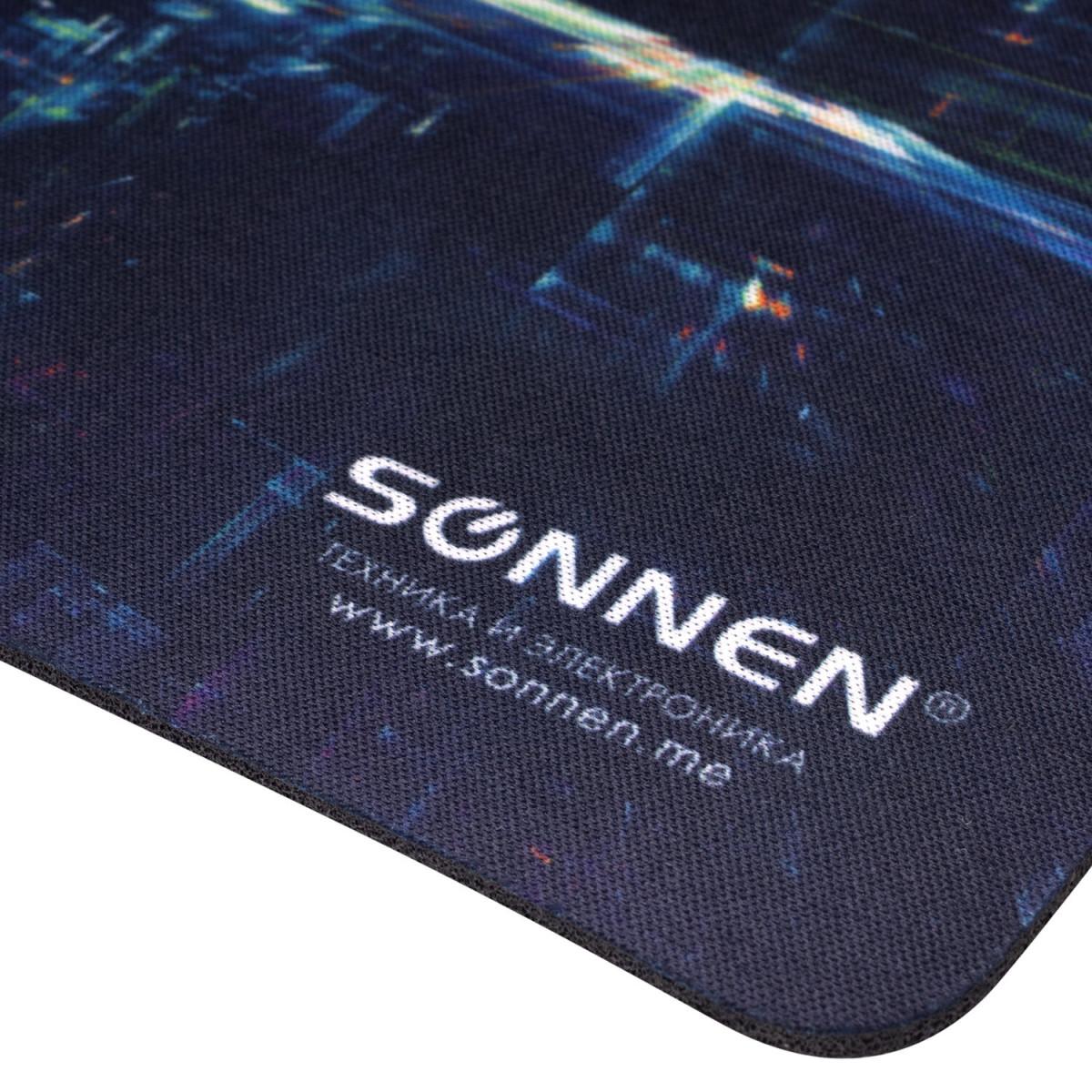 "Коврик для мыши SONNEN ""SINGULARITY"", резина + ткань, 220х180х3 мм, 513293 (арт. 513293)"
