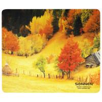 """SONNEN 513297 Коврик для мыши SONNEN """"FALL"""", резина + ткань, 260х220х3 мм, 513297"""