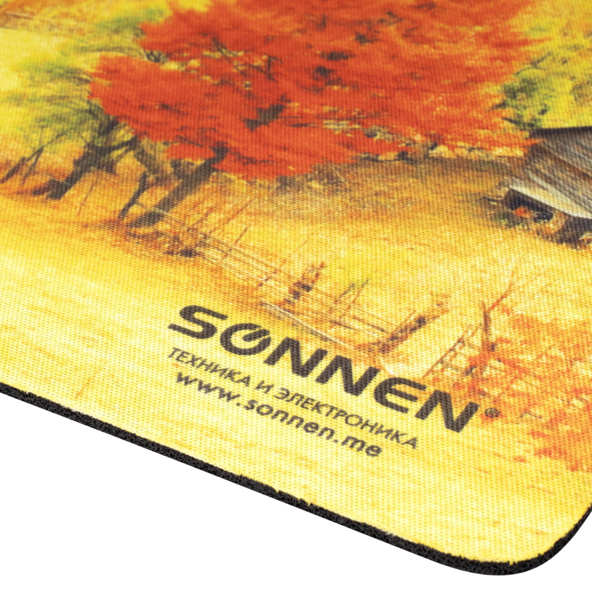 "Коврик для мыши SONNEN ""FALL"", резина + ткань, 260х220х3 мм, 513297 (арт. 513297)"
