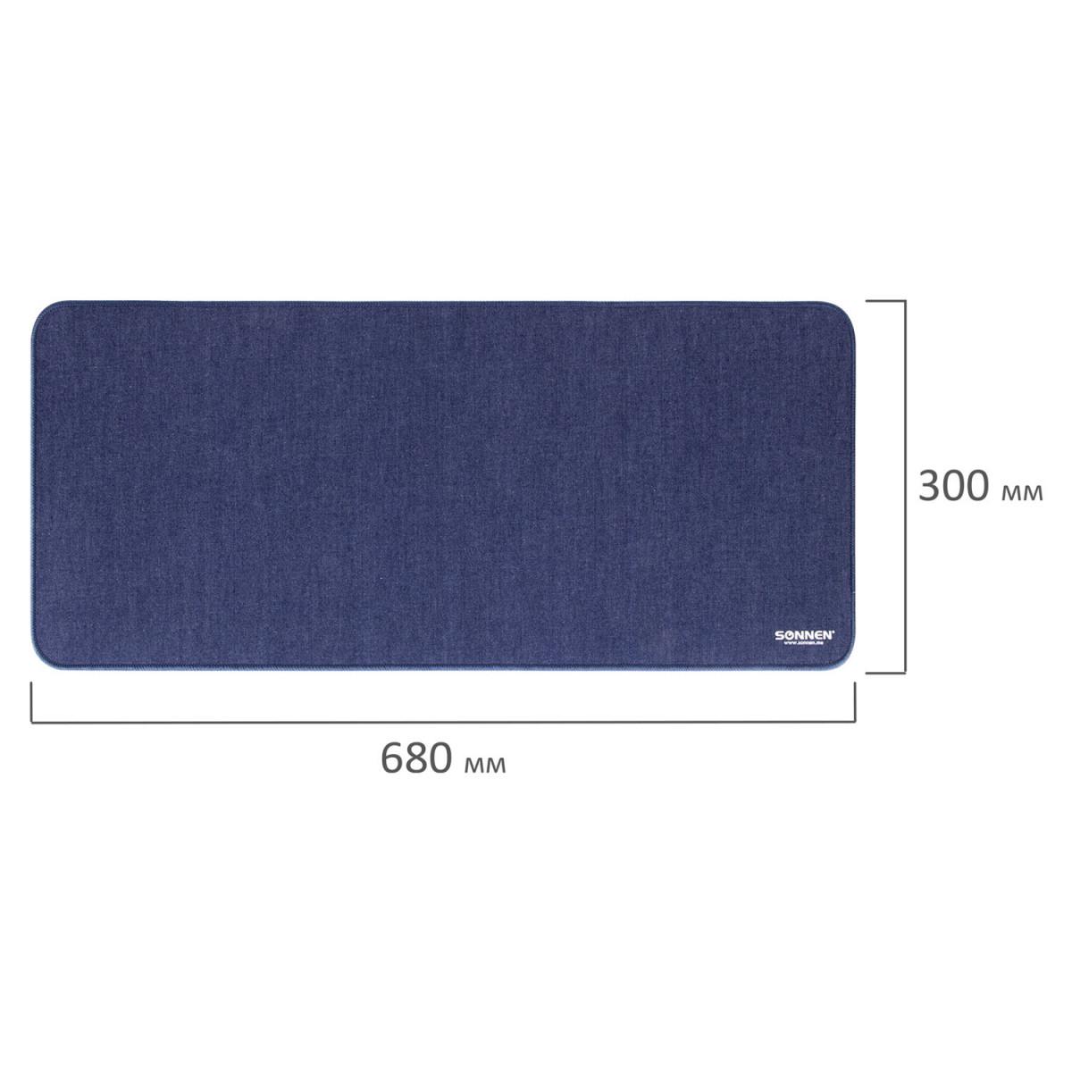"Коврик для мыши игровой SONNEN ""MID RANGE"", резина + ткань, 680х300х3 мм, 513304 (арт. 513304)"