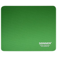"SONNEN 513305 Коврик для мыши SONNEN ""GREEN"", резина + ткань, 220х180х3 мм, 513305"