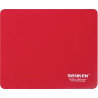 "SONNEN 513306 Коврик для мыши SONNEN ""RED"", резина + ткань, 220х180х3 мм, 513306"