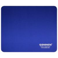 """SONNEN 513308 Коврик для мыши SONNEN """"BLUE"""", резина + ткань, 220х180х3 мм, 513308"""