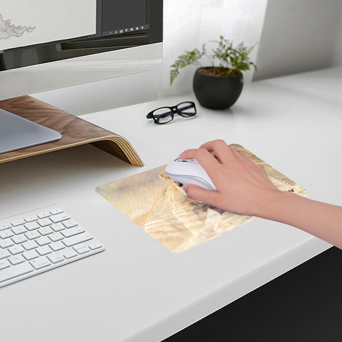 """Коврик для мыши SONNEN """"LIONS"""", резина + ткань, 220х180х3 мм, 513310 (арт. 513310)"""