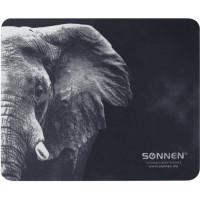 """SONNEN 513312 Коврик для мыши SONNEN """"ELEPHANT"""", резина + ткань, 220х180х3 мм, 513312"""