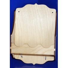 Полочка для специй с вешалкой, 2 крючка (арт. 046469)