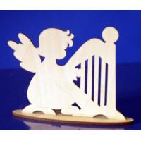 ПКФ Созвездие 047069 Ангел с арфой на подставке 15 см