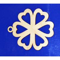 ПКФ Созвездие 047658 Подвеска Цветочек 10 см