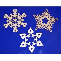 ПКФ Созвездие 050351 Набор снежинок ажурных