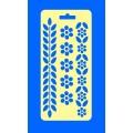 """ПКФ Созвездие 050437 Трафарет """"Цветы, листья"""""""