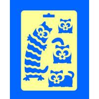 """ПКФ Созвездие 050511 Трафарет """"Глазастые коты"""""""