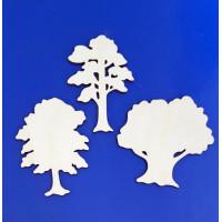 ПКФ Созвездие 050523 Набор деревьев 3 шт. 8 см