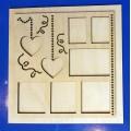 ПКФ Созвездие 050747 Фоторамка с сердечками