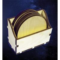 ПКФ Созвездие 050965 Коробочка с подставками под горячее (круг)