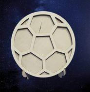 """ПКФ Созвездие 051322 Фоторамка """"Футбольный мяч"""" на подставке"""
