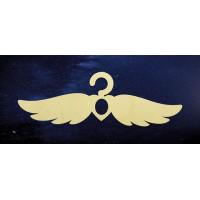 ПКФ Созвездие 051328 Вешалка Крылья 37х12,5 см  6мм