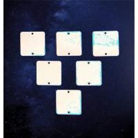 ПКФ Созвездие 051384 Набор бирочек Квадраты 4,5 см 6 шт.