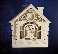 ПКФ Созвездие 051455 Ключница Свинка в окошке