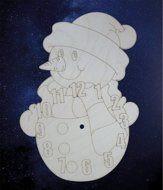 ПКФ Созвездие 051550 Циферблат Снеговик под роспись