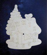 ПКФ Созвездие 051552 Циферблат Домик с елочкой под роспись