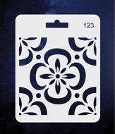 ПКФ Созвездие 051561 Трафарет 123 Орнамент