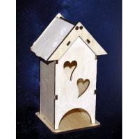 ПКФ Созвездие 146112 Чайный домик мини с сердечками 8х8х16,5 см
